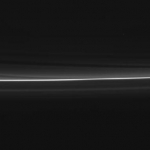 "Kinky. Twists waves in Saturns F ring caused by gravity from little moonlets. Taken today. 150x150 - Сатурн - ""Властелин колец"""