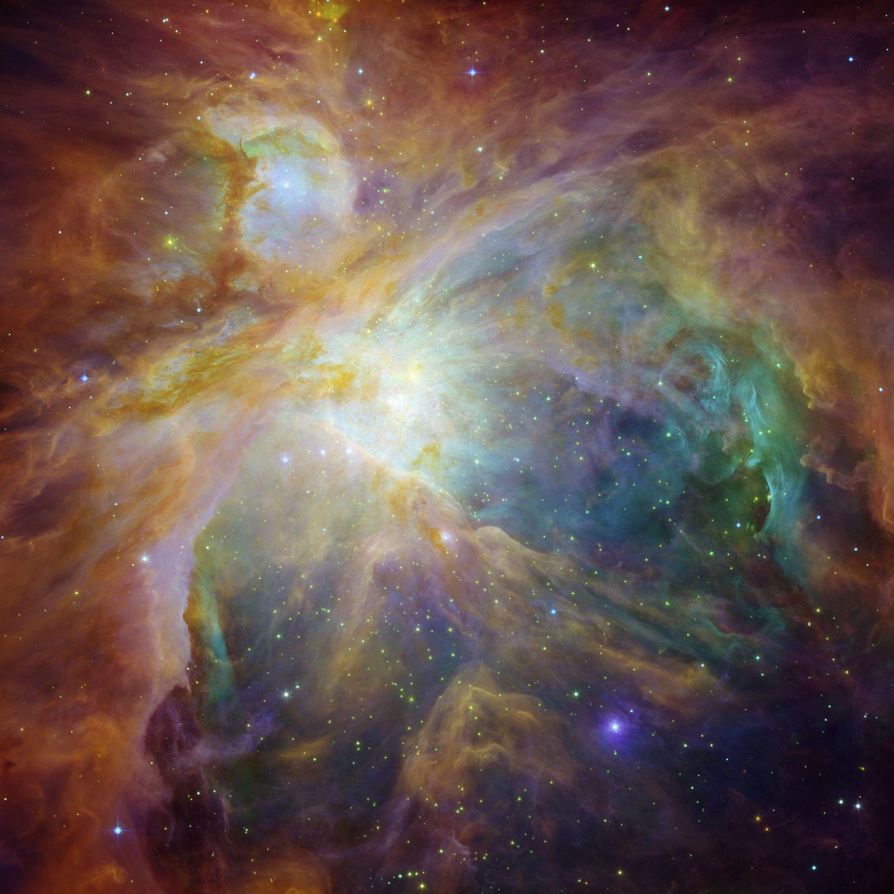 Комбинированный снимок в инфракрасном, ультрафиолетовом и видимом диапазоне света