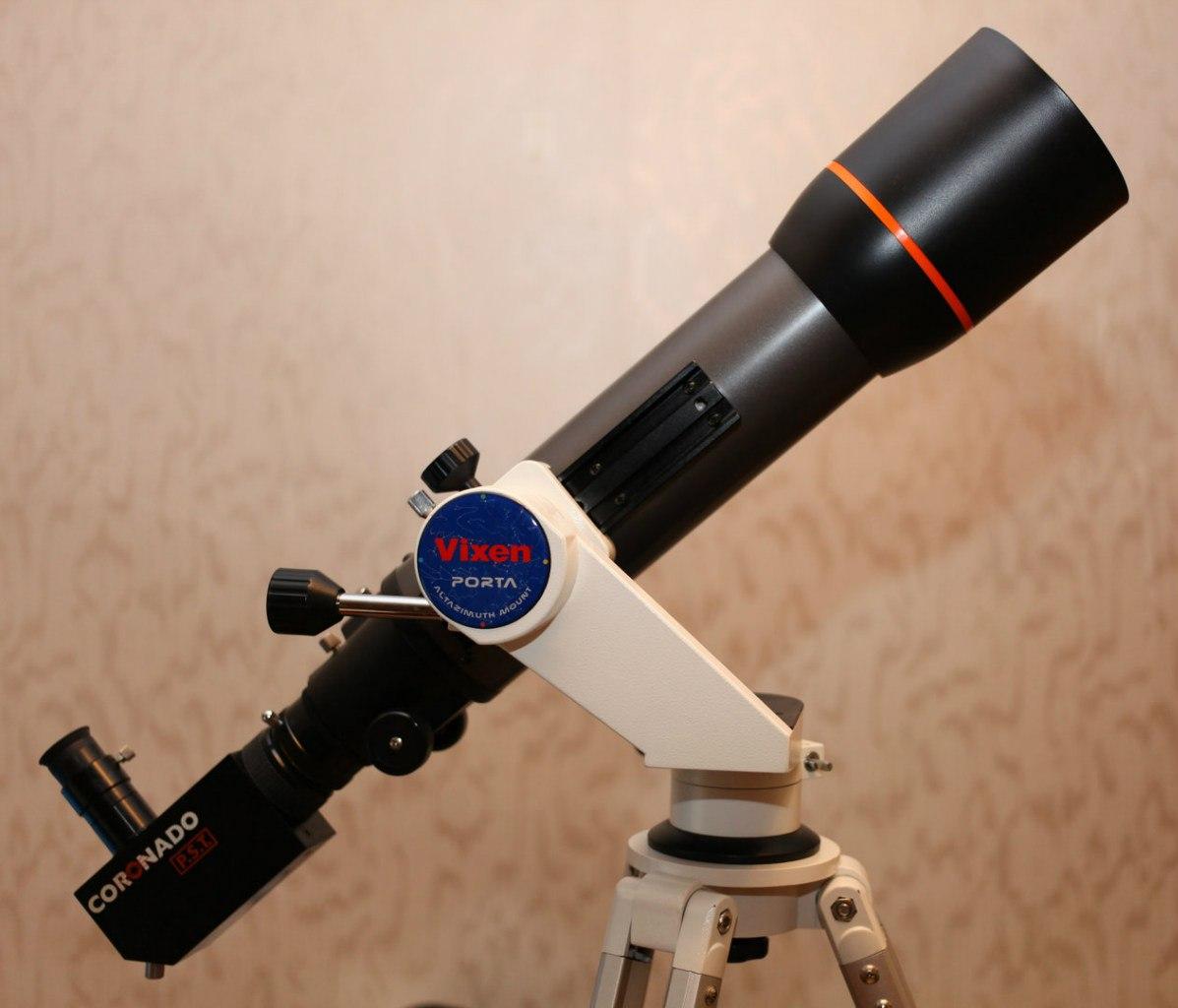 Любительский вариант телескопа для наблюдения Солнца