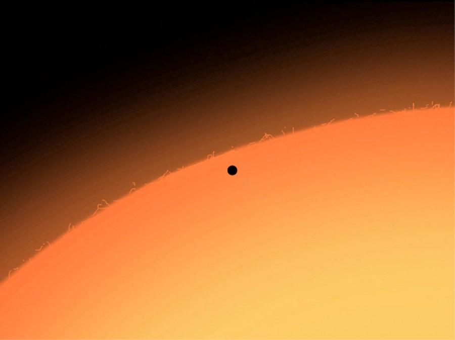Меркурий на фоне Солнца. Телескоп ESO
