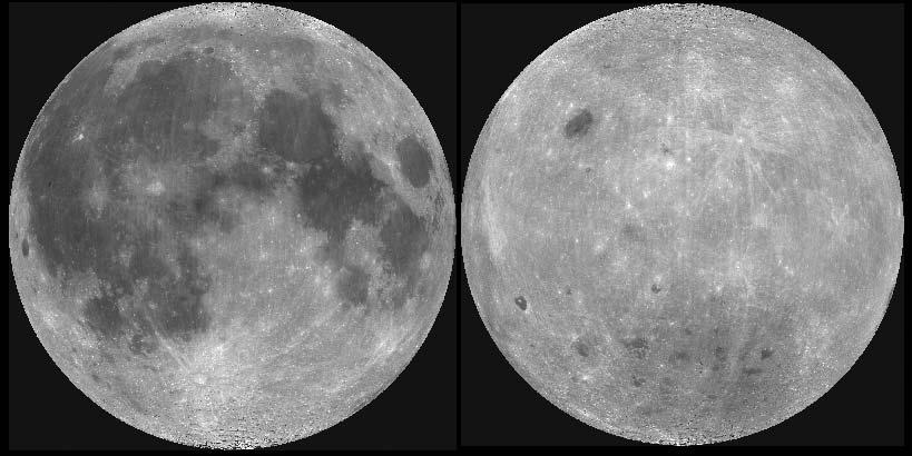Оба полушария Луны.