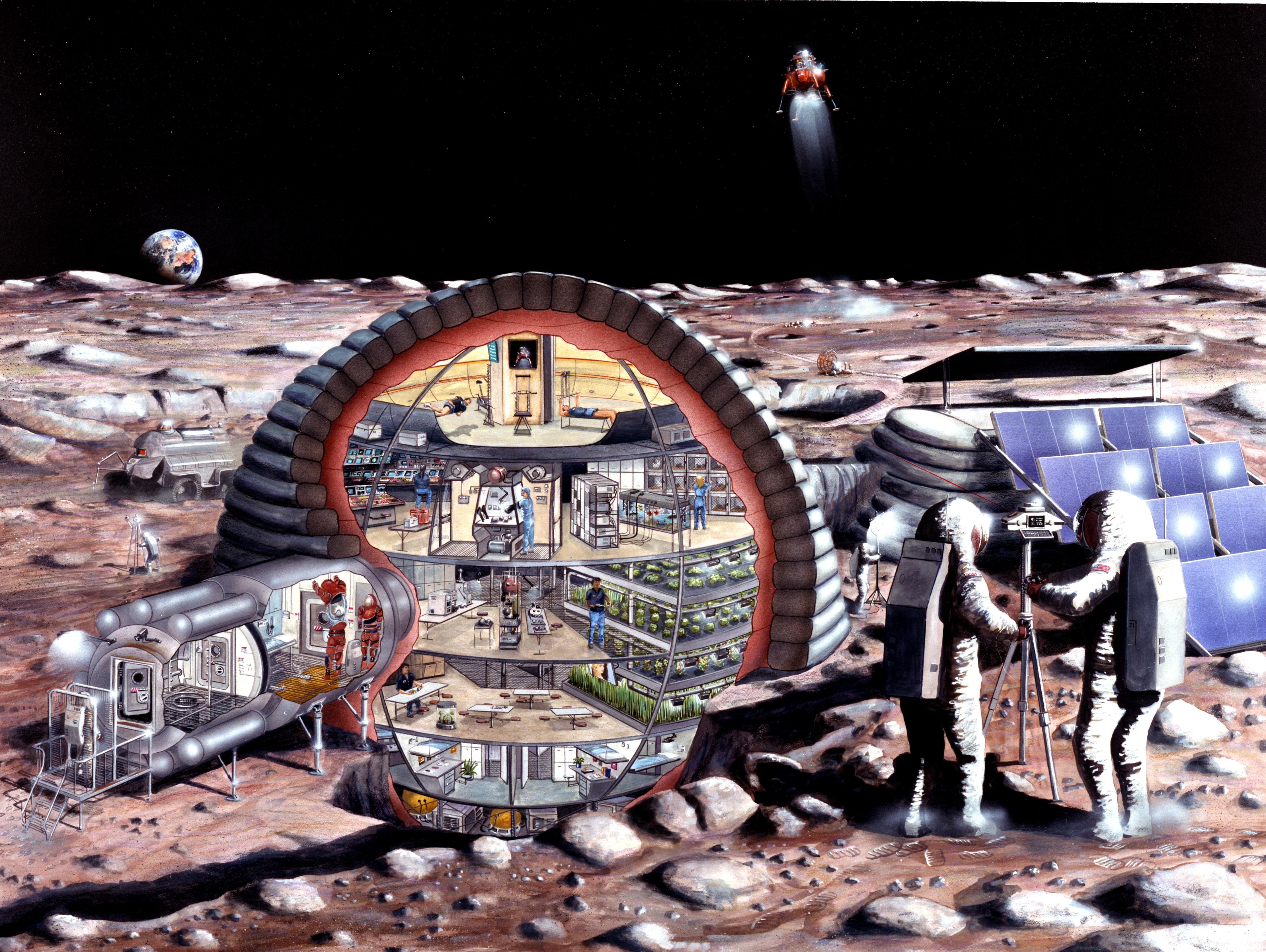 Проект жилого модуля на Луне.