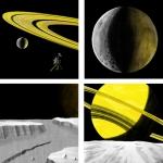 Вид с Энцелада на Сатурн