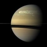 Шторм на Сатурне разразившийся в 2008 году