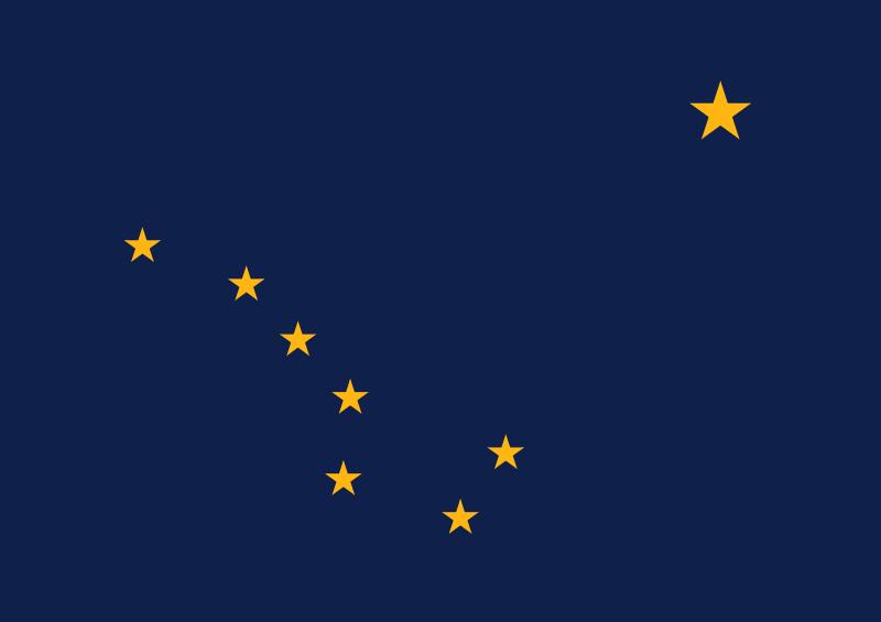 Полярная на флаге Аляски
