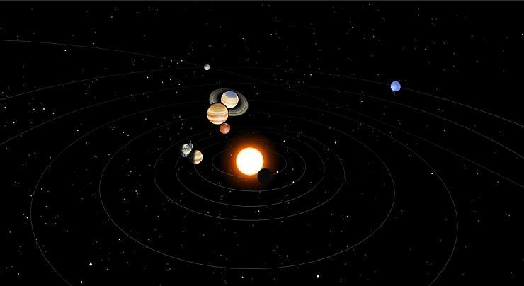 3D модель Солнечной системы онлайн