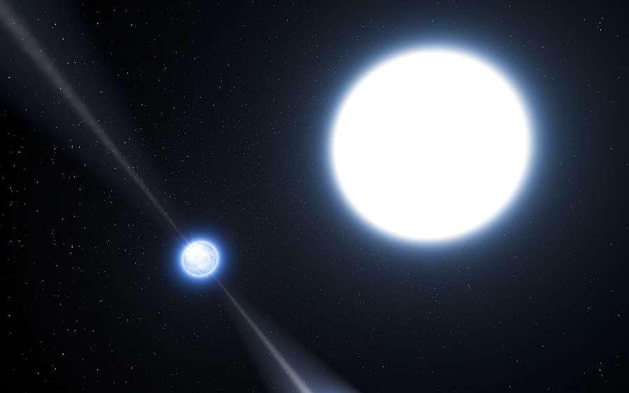 Пульсар PSR J0348 +0432 - нейтронная звезда и белый карлик