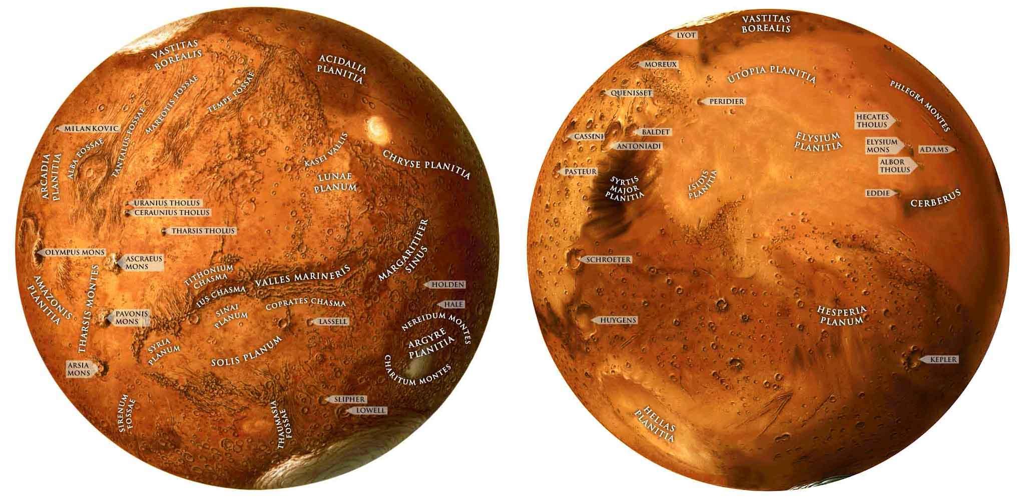 Наглядная карта с обозначениями