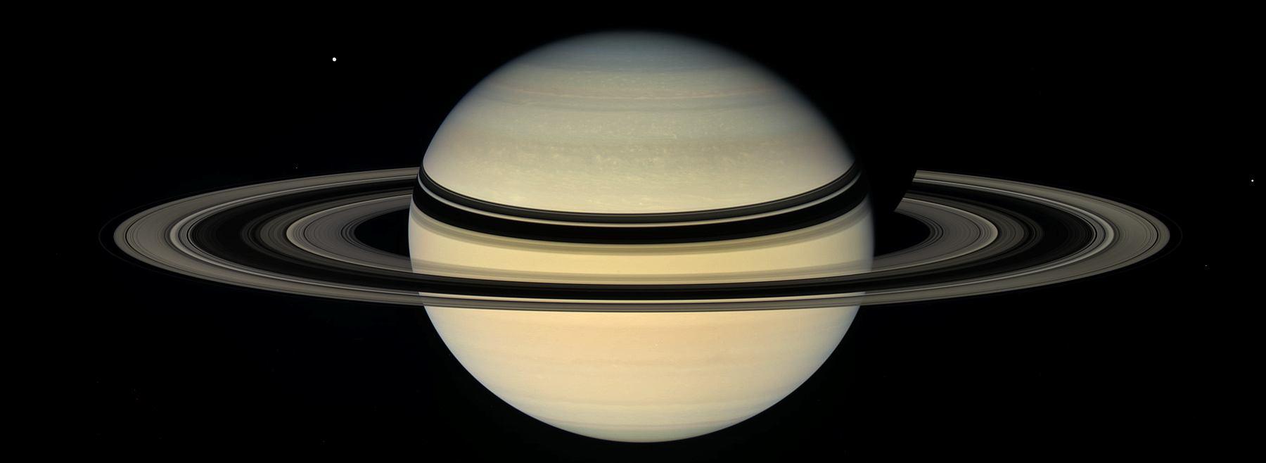 Сатурн, снимок космического аппарата Кассини в 2007 году