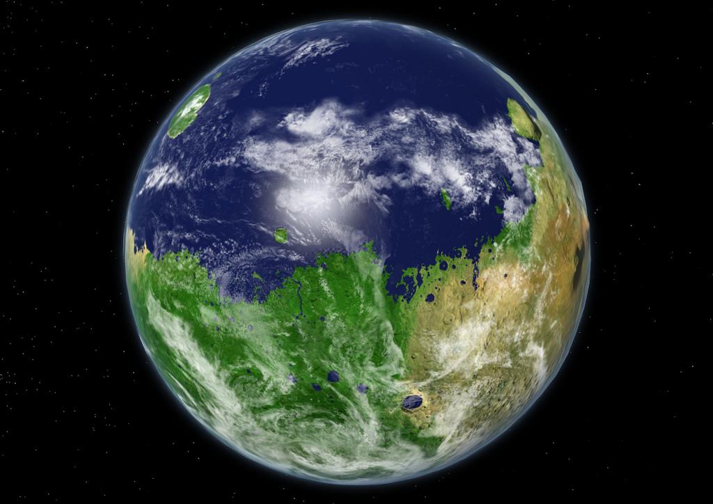 Так могла выглядеть планета миллиарды лет назад