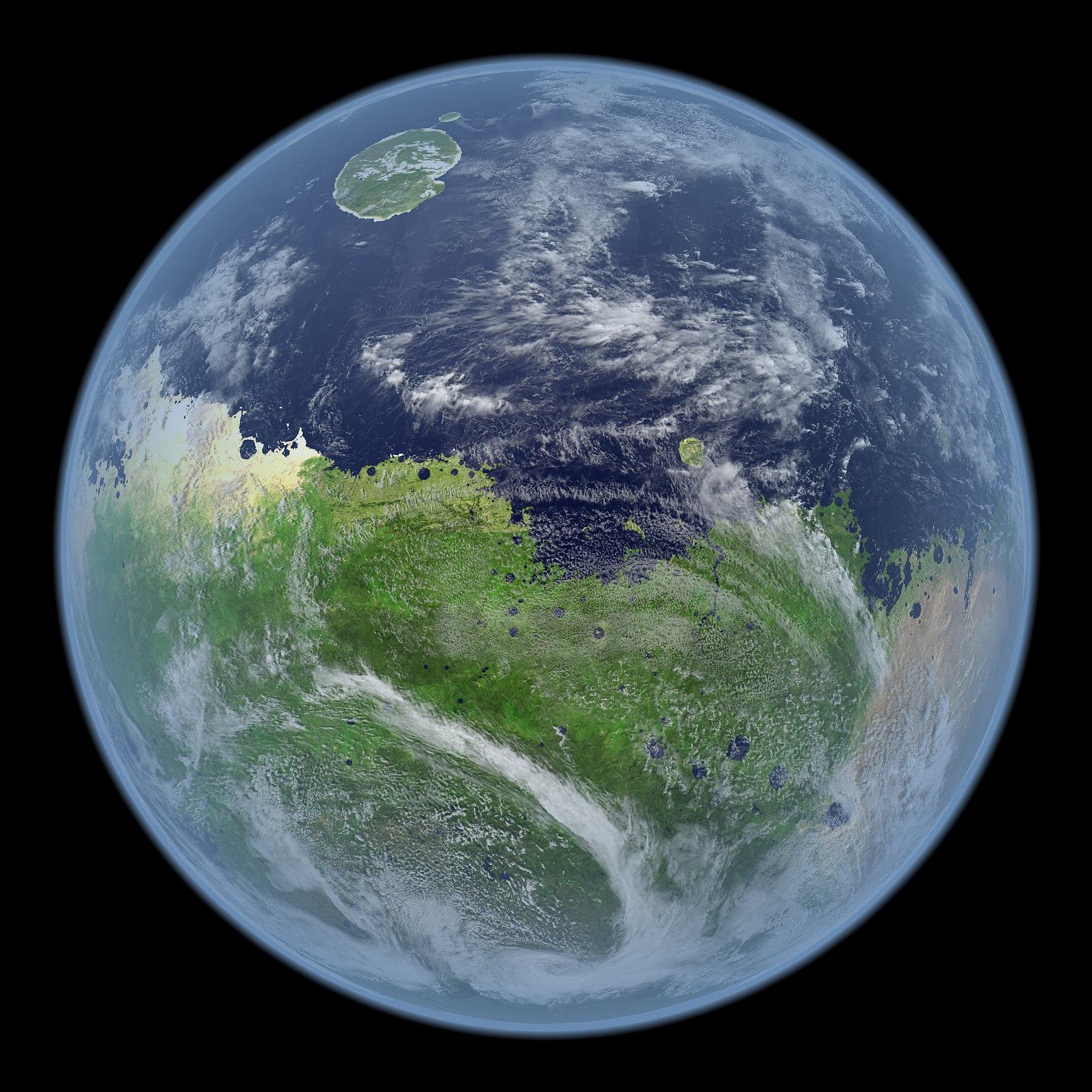 Визуализация далекого прошлого Марса