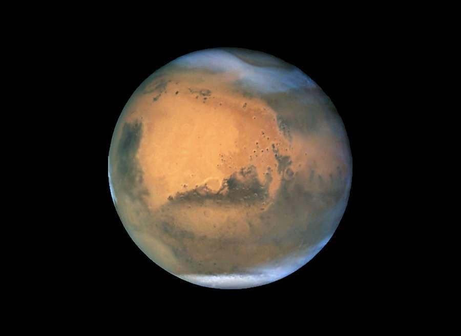 Красная планета, снимок телескопа Хаббл