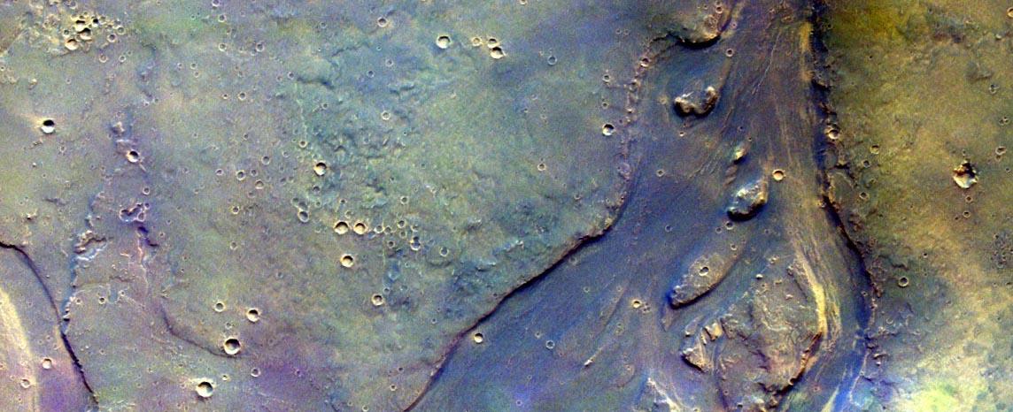 Следы водной эрозии на Марсе