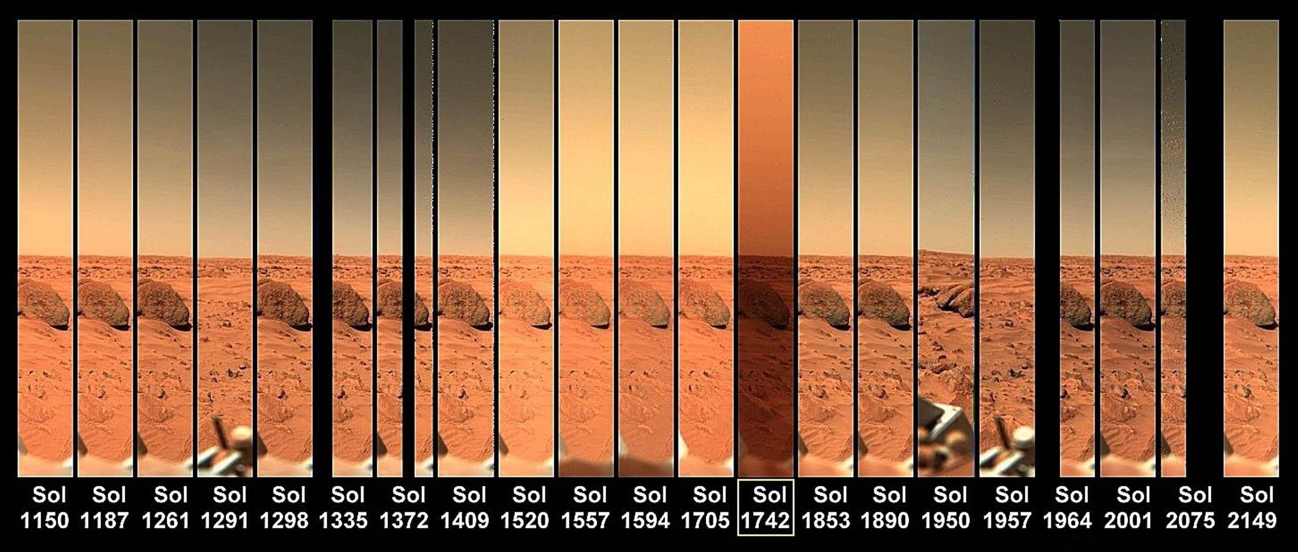Цвет марсианского неба с посадочного модуля Viking Lander 1