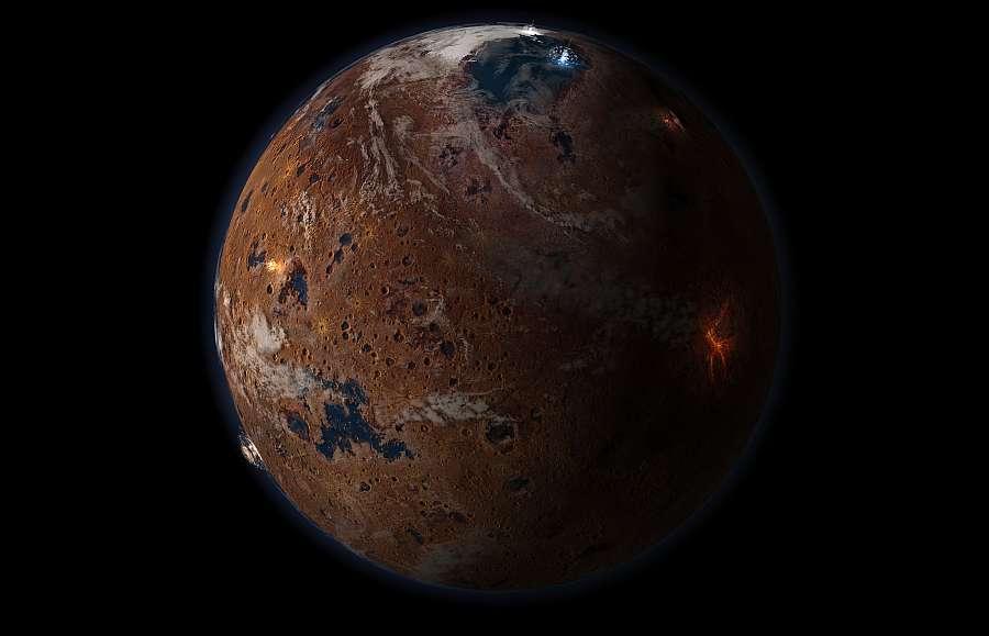 Так могла выглядить планета в Нойский период