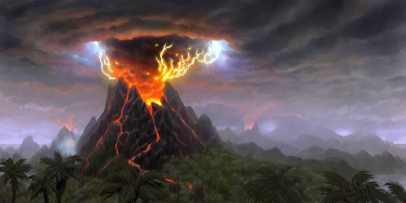 Древние вулканы Земли