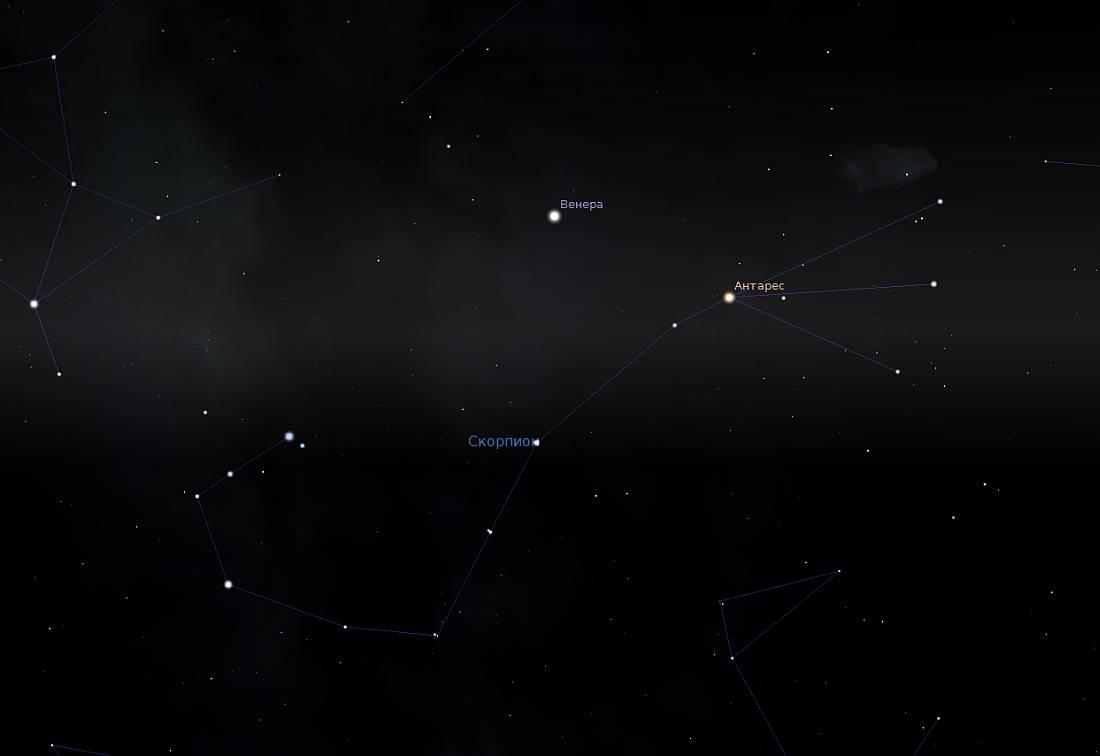 Скриншот созвездия из планетария