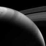 Изображение Сатурна полученное с использованием метанового фильтра