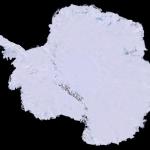Карта Антарктиды сделанная из 1100 изображений