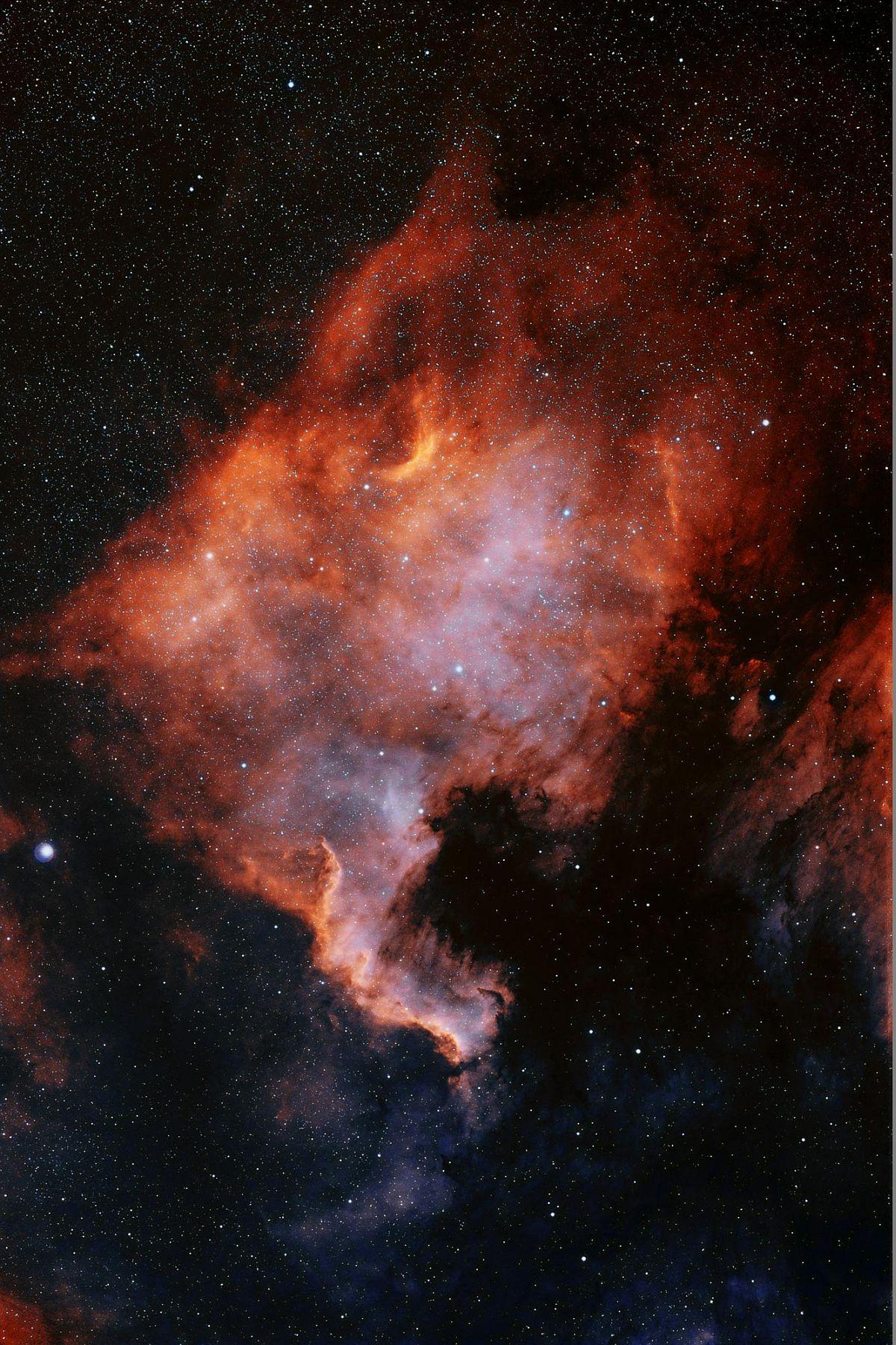 NGC 7000 комбинированный снимок
