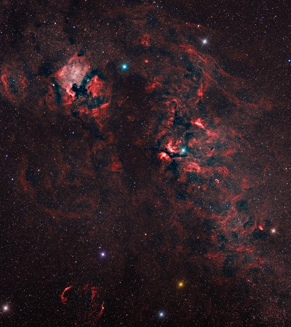 Область Млечного пути из созвездия Лебедя