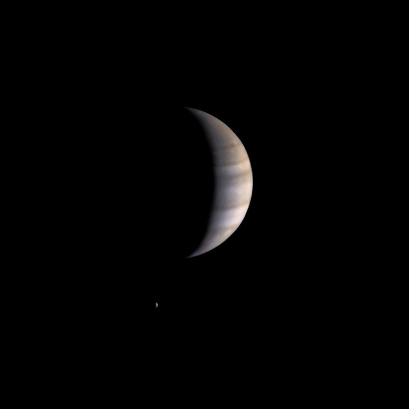 Снимок Юпитера и Ио