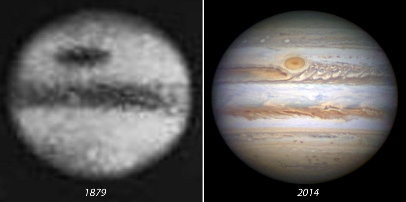 Сравнение фотографий БКП сделанных в 1879 году (слева) и в 2014 году (справа)