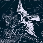 Созвездие Лиры, рисуно из древнего атласа звездного неба Яна Гевелия