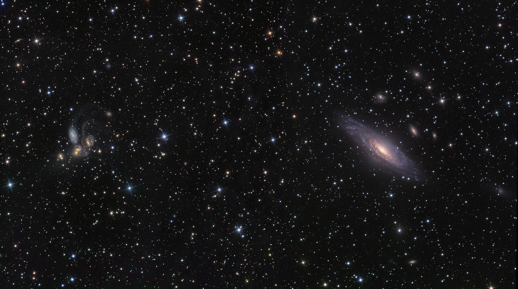NGC 7331 и квинтет Стефана