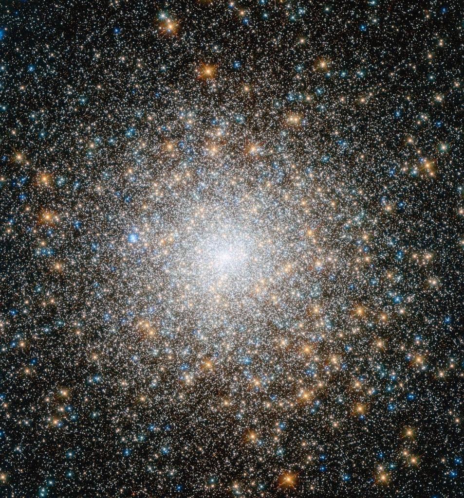 Шаровое скопление М15, снимок телескопа Хаббл