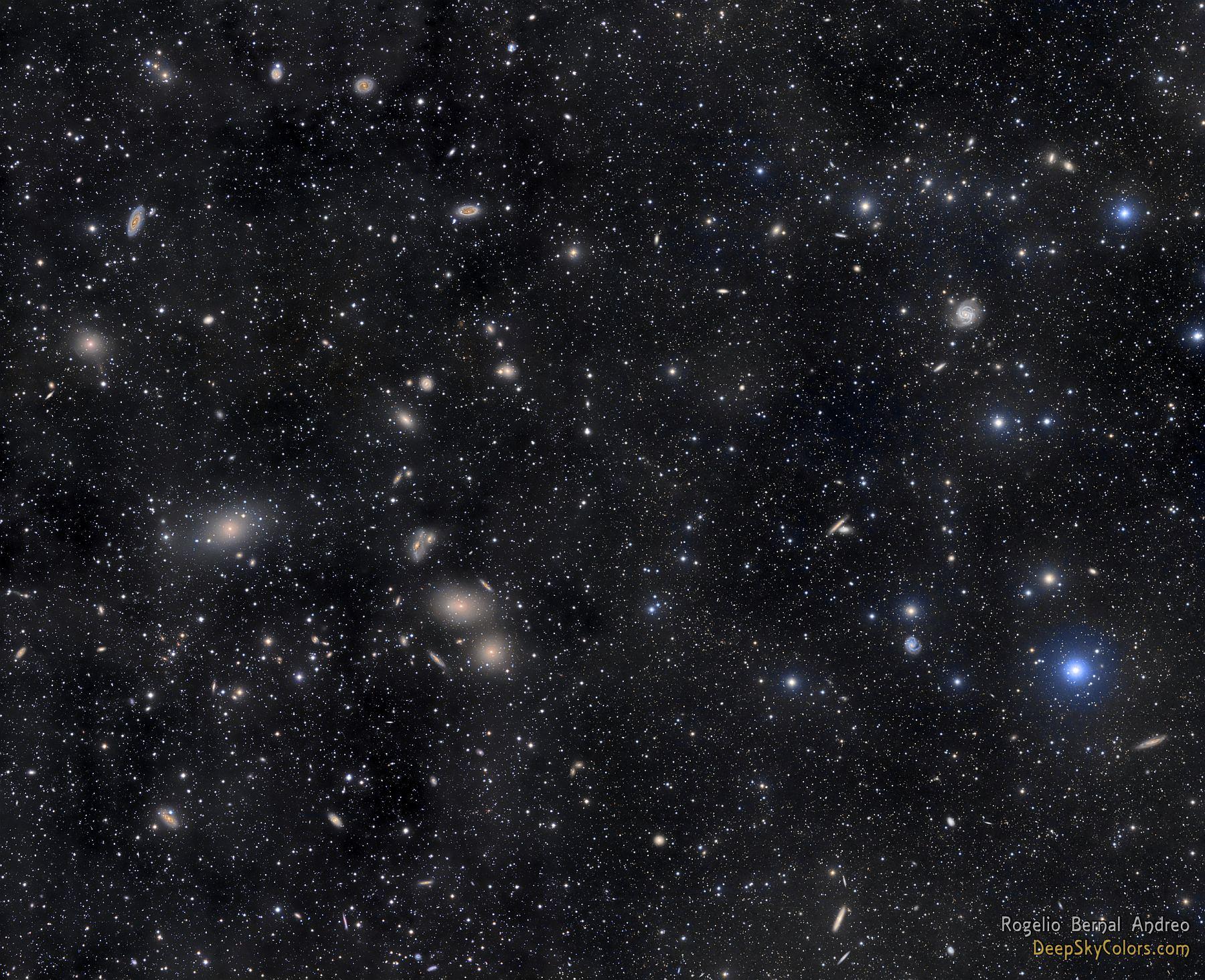 Скопление галактик в Деве
