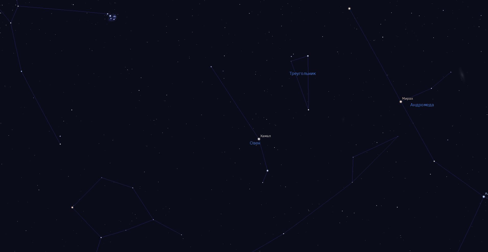 Скриншот из Stellarium