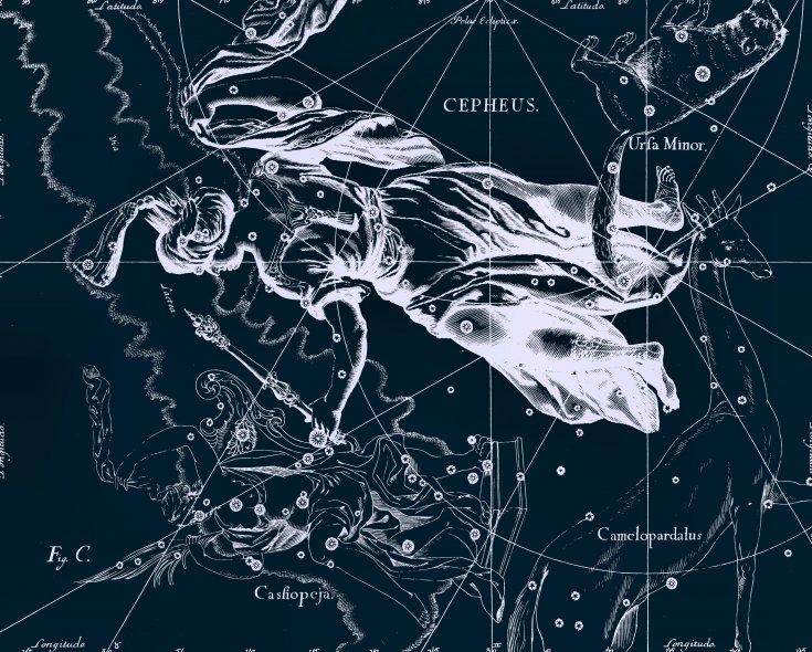 Цефей, рисунок Яна Гевелия из его атласа созвездий