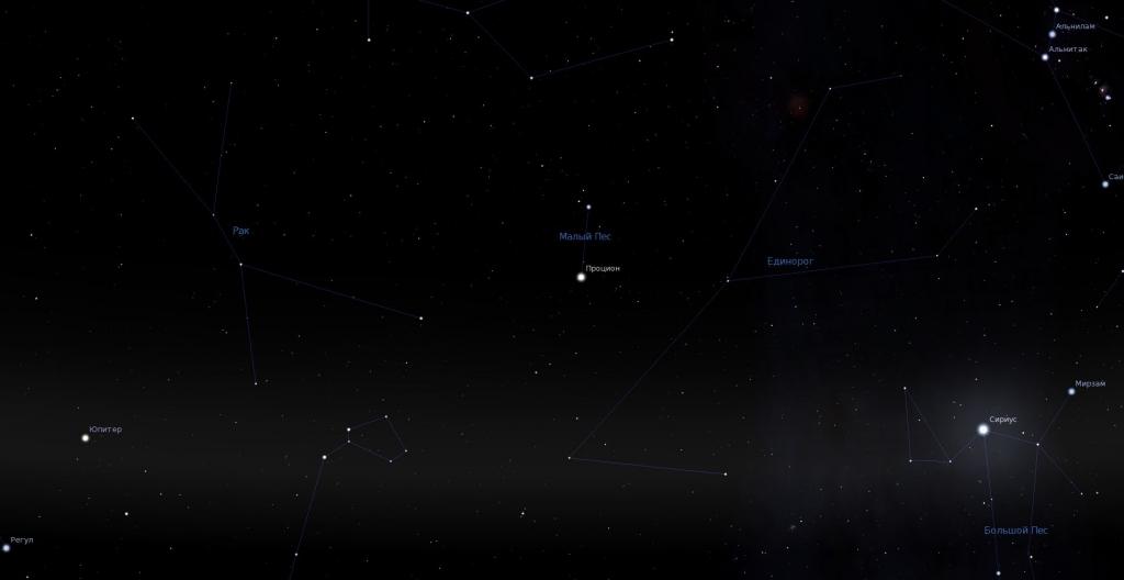 Вид в программу планетарий