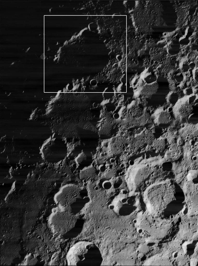 Кратер Пири с орбиты