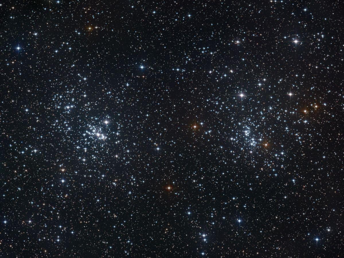 NGC 869 и NGC 884 рассеянное скопление Хи и Аш Персея