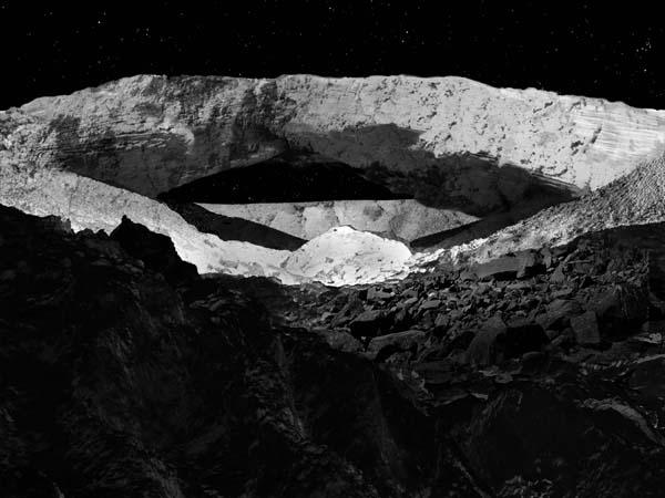 Природный мост с поверхности Луны, рисунок