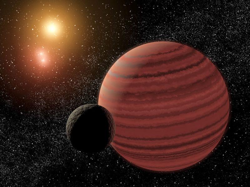 Sistema Glize 570 v predstavlenii hudozhnika - Звезда Глизе 570