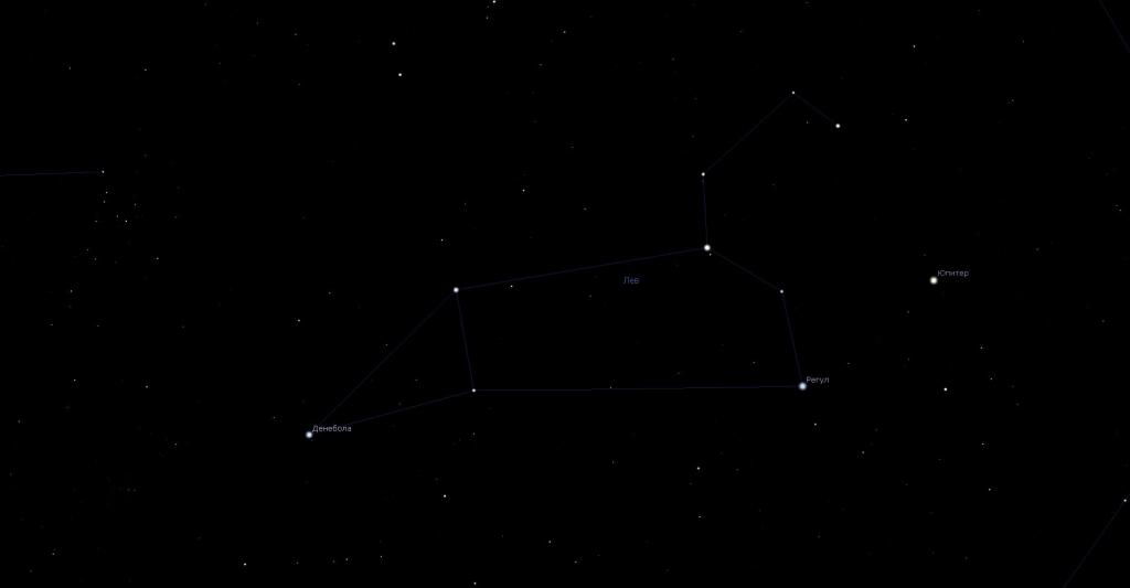 Созвездие Лев и его альфа - Регул