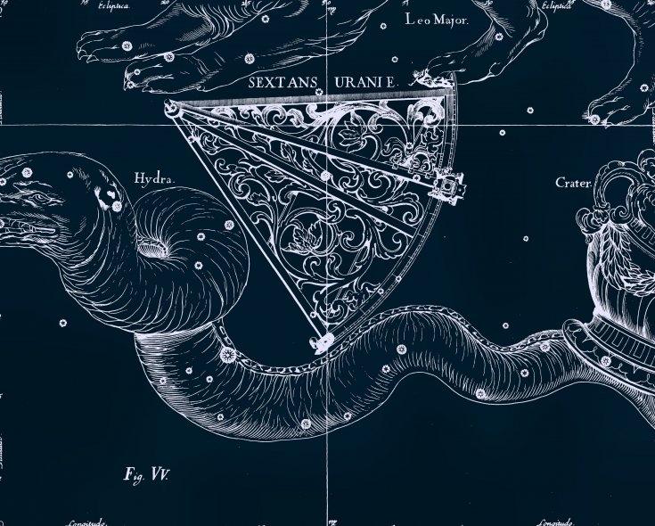 Водяная Гидра, рисунок Яна Гевелия из его атласа созвездий