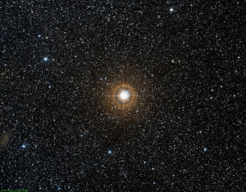 Двойная звезда дельта Стрелы