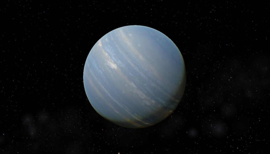 Рисунок экзопланеты Pi Mensae b