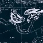 Ворон, рисунок Яна Гевелия из его атласа созвездий