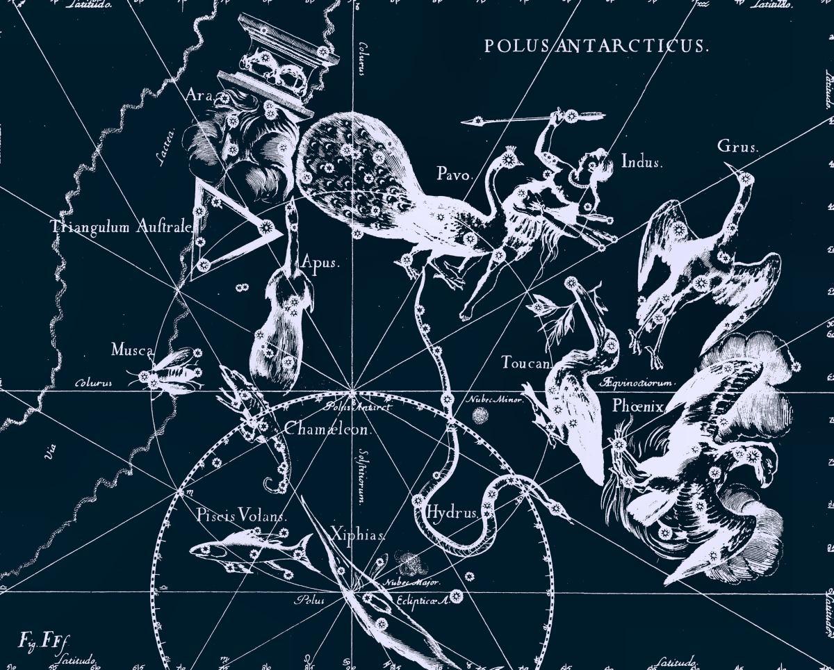 Индеец, рисунок Яна Гевелия из его атласа созвездий