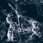 Расположение созвездия Живописец на рисунке Яна Гевелия