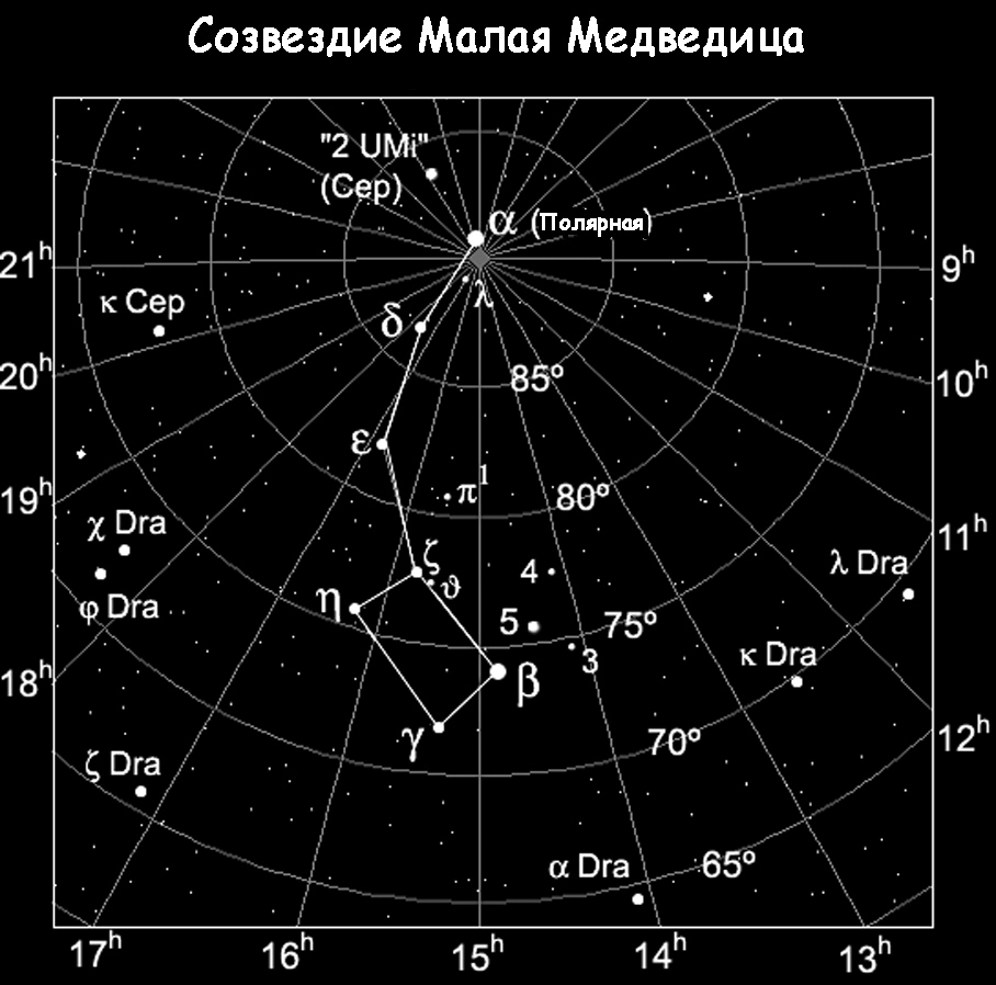 Sozvezdie Malaya Medveditsa - Полярная звезда наш верный ориентир