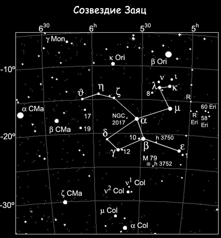 Созвездие Заяц