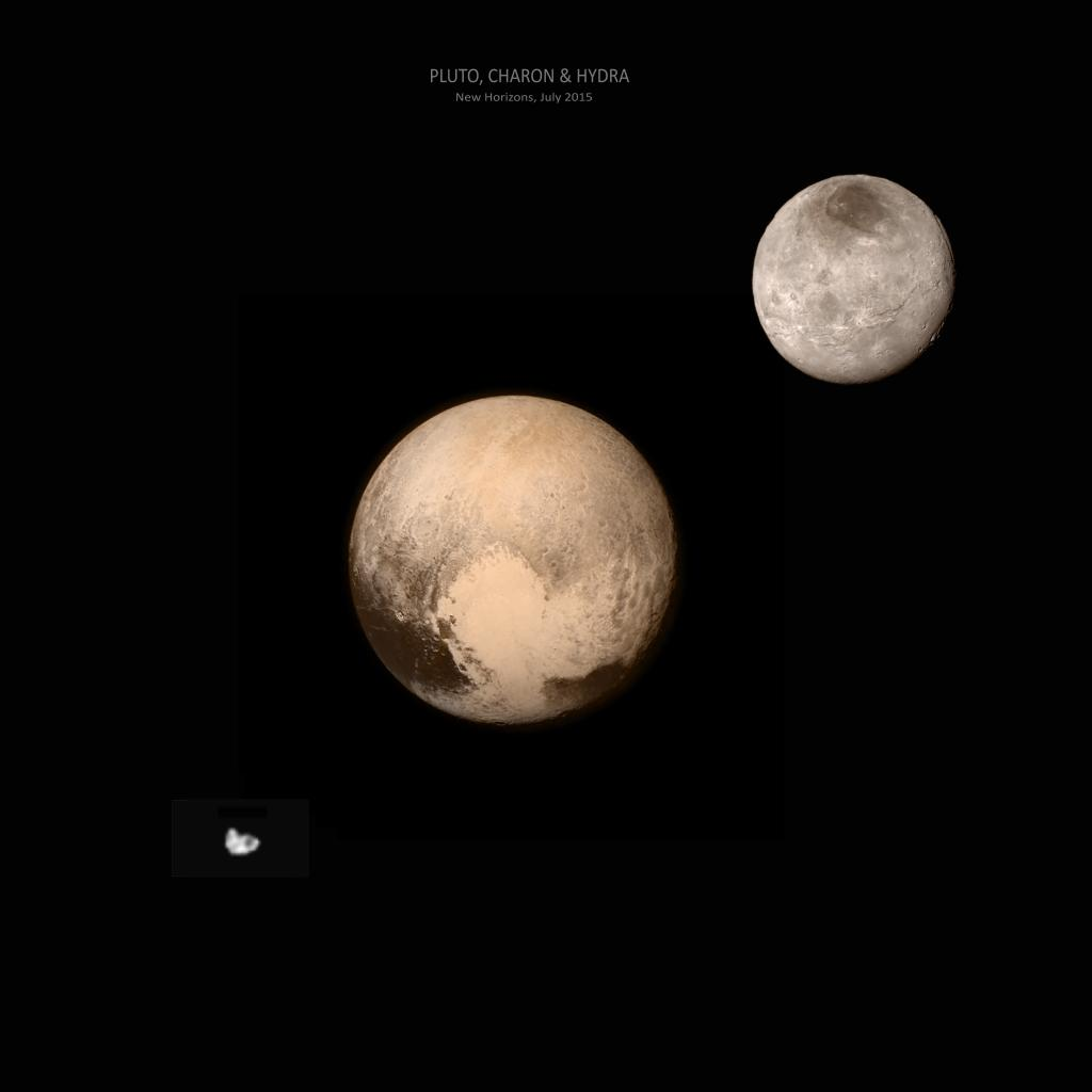 pluto's moons nix and hydra - HD2458×2048
