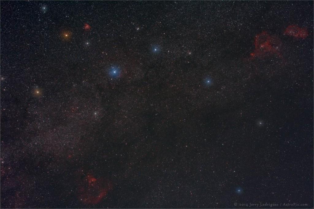 Созвездие Кассиопеи от фотографа Jerry Lodriguss.