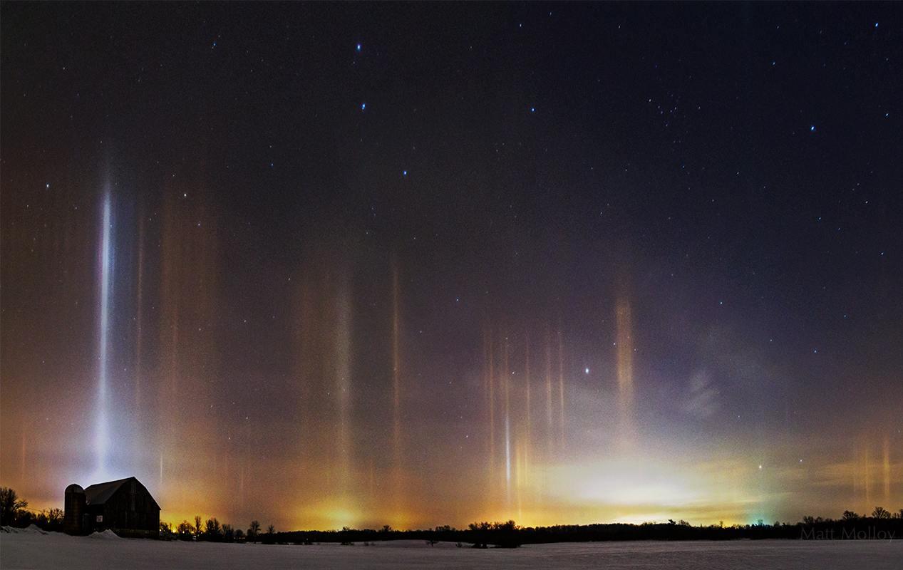 Красивейшее природное явление- световой столб